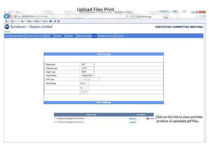 Upload Files Print