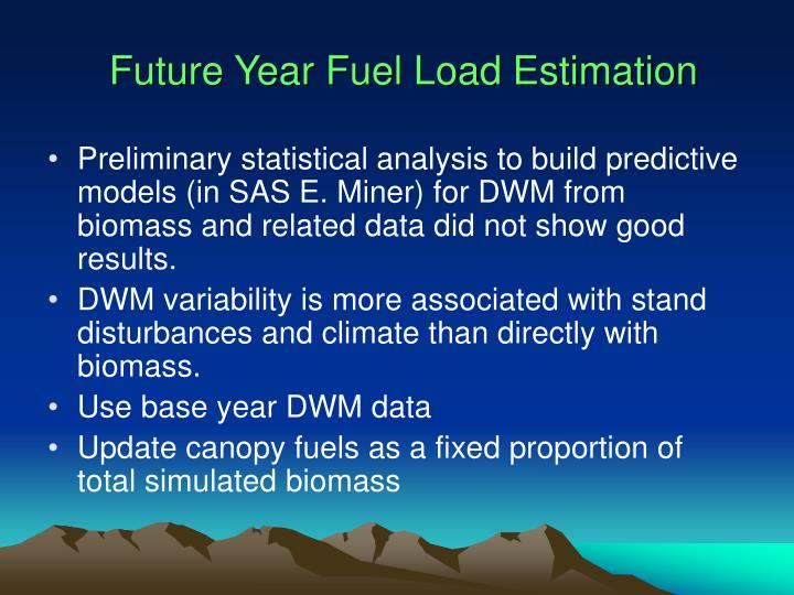 Future Year Fuel Load Estimation