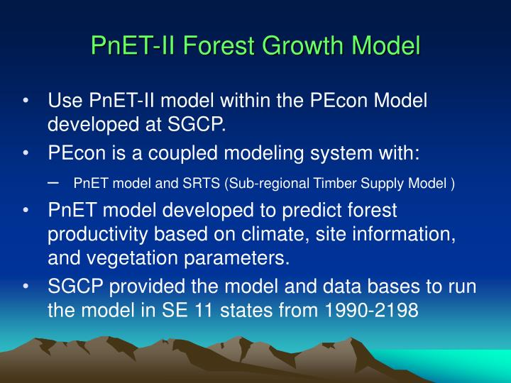 PnET-II Forest Growth Model