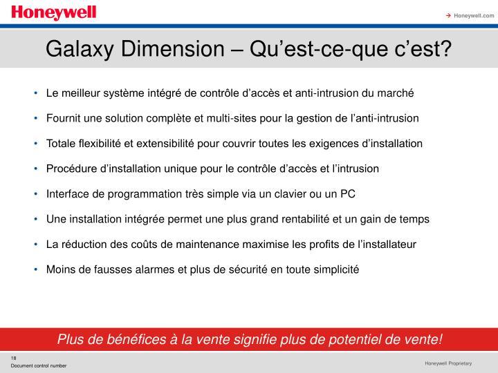 Galaxy Dimension – Qu'est-ce-que c'est?