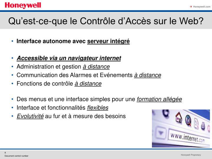 Qu'est-ce-que le Contrôle d'Accès sur le Web?