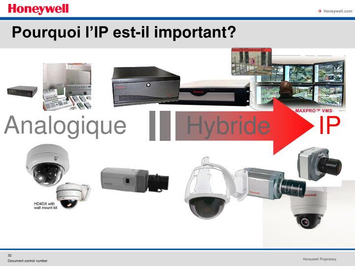 Pourquoi l'IP est-il important?