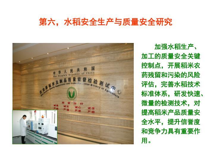 第六,水稻安全生产与质量安全研究