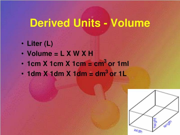 Derived Units - Volume