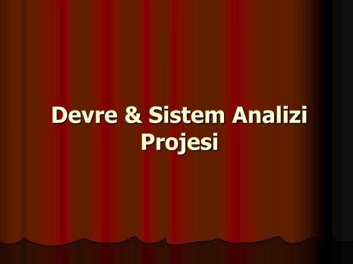 Devre & Sistem Analizi