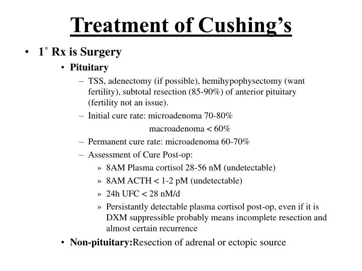 Treatment of Cushing's