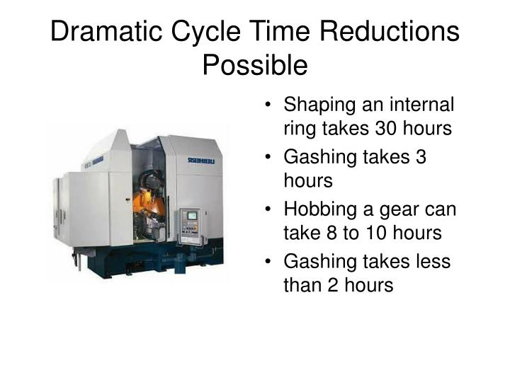 Dramatic Cycle Time Reductions Possible