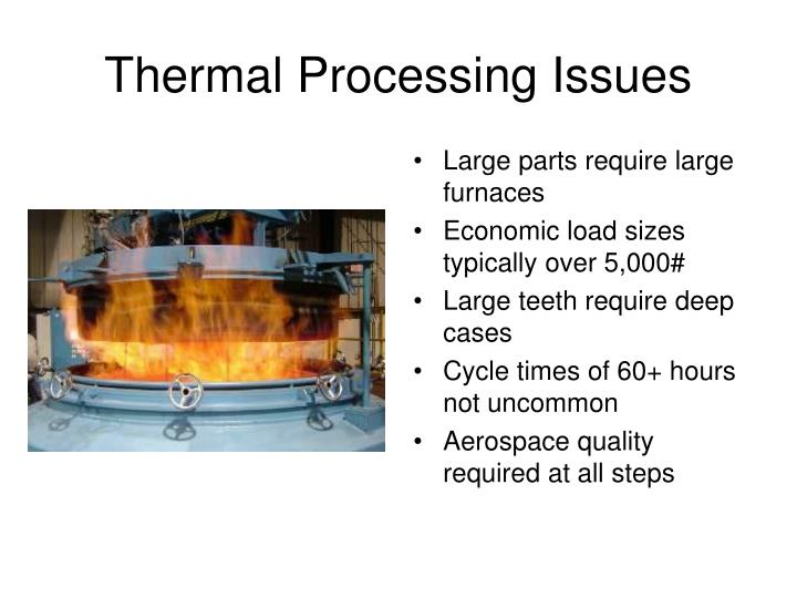 Large parts require large furnaces