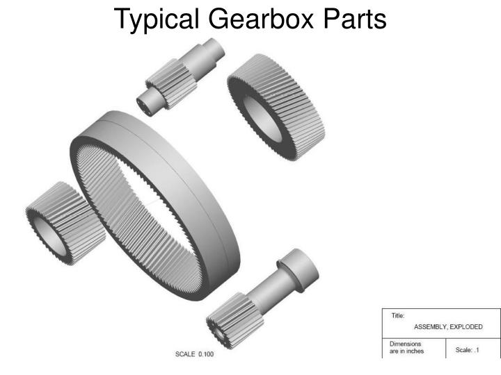 Typical Gearbox Parts