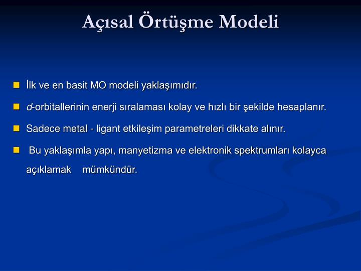 Açısal Örtüşme Modeli