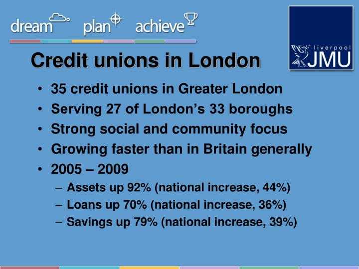 Credit unions in London