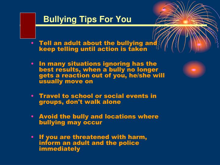 Bullying Tips For You
