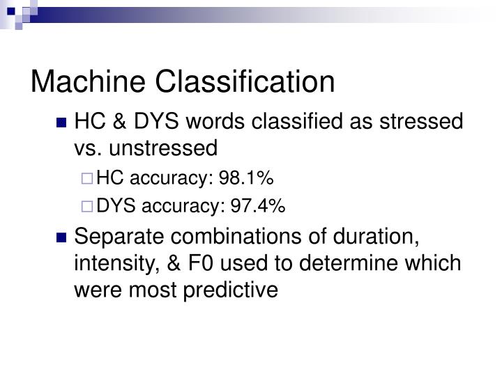 Machine Classification