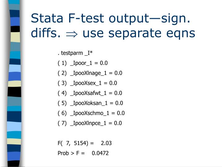 Stata F-test output—sign. diffs.