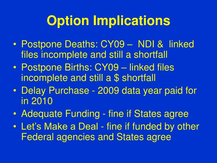 Option Implications