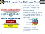 dre systems the challenges ahead