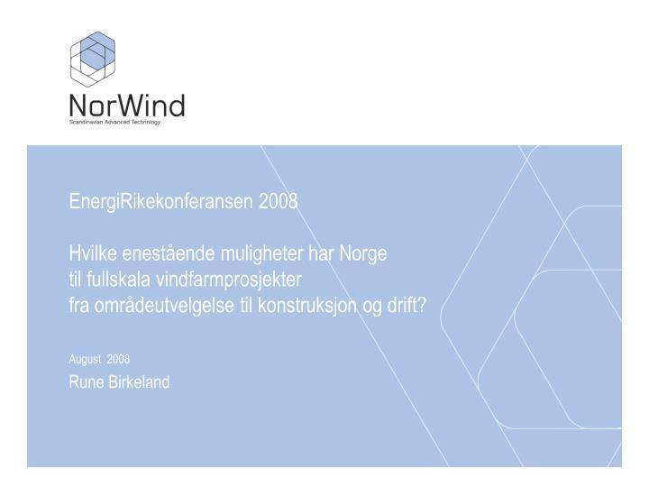 EnergiRikekonferansen 2008