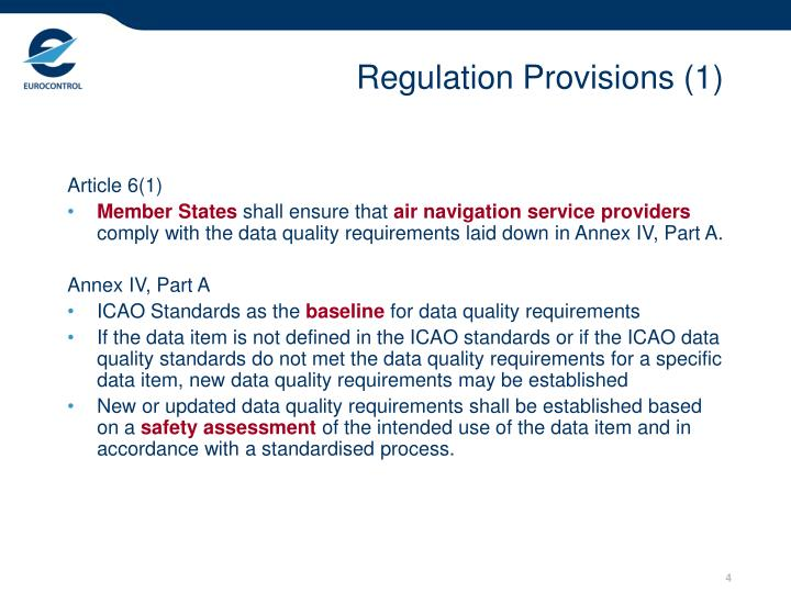 Regulation Provisions (1)