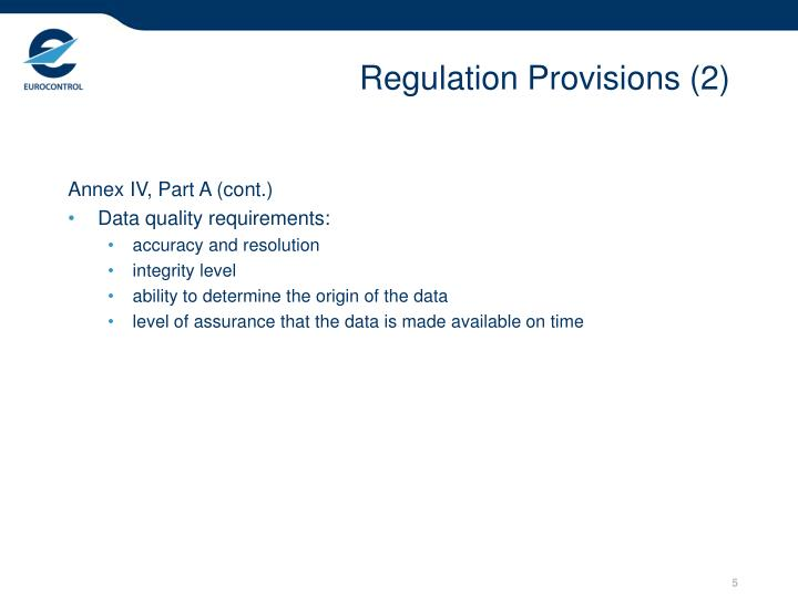 Regulation Provisions (2)
