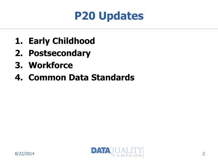 P20 Updates