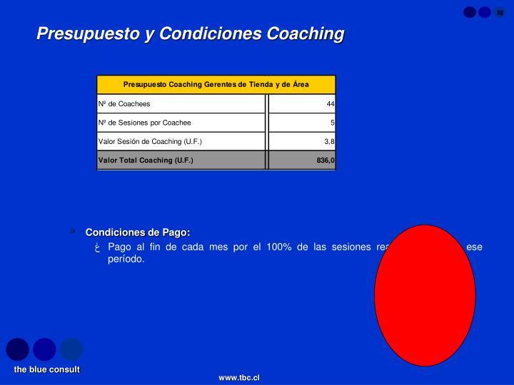 Presupuesto y Condiciones Coaching
