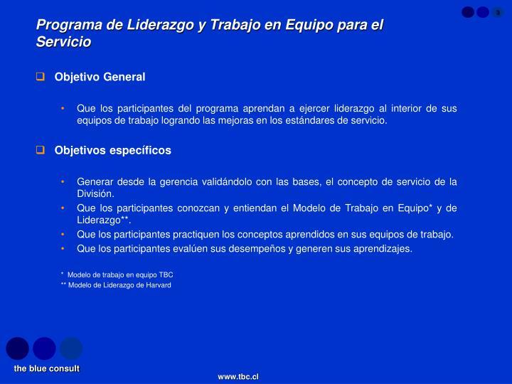 Programa de Liderazgo y Trabajo en Equipo para el Servicio