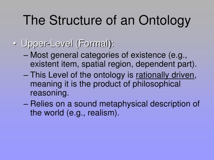 The Structure of an Ontology
