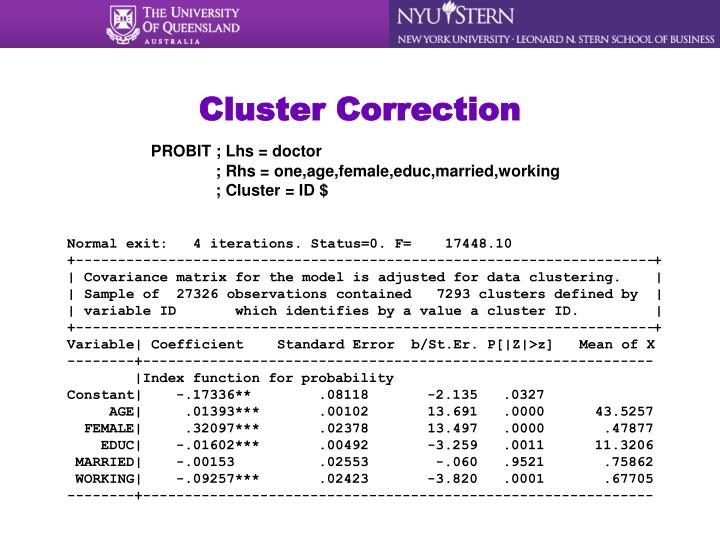 Cluster Correction