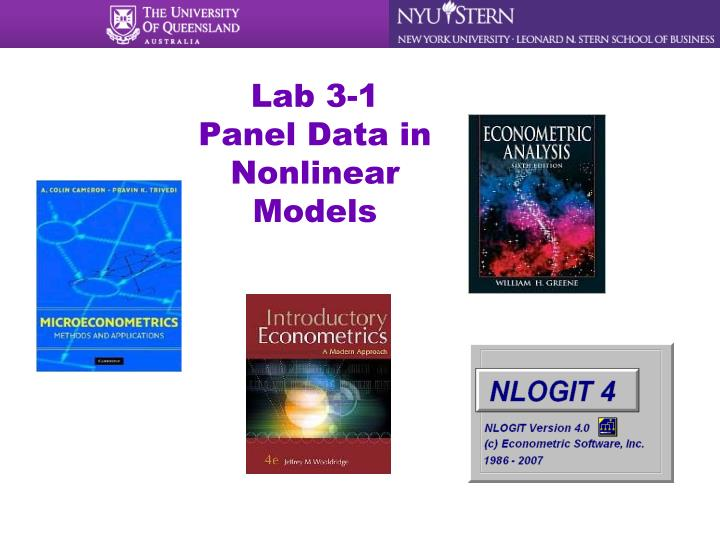 Lab 3 1 panel data in nonlinear models