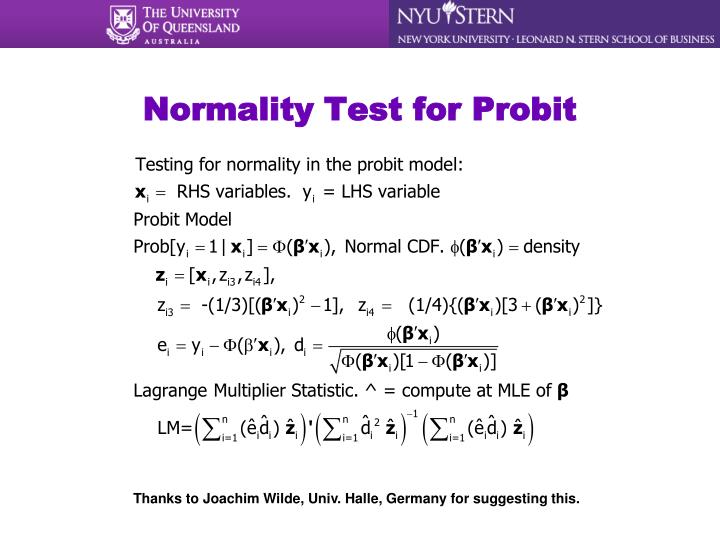 Normality Test for Probit