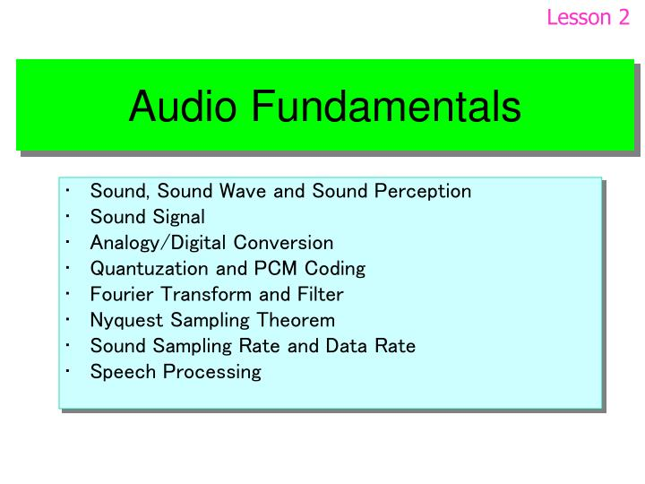 Audio fundamentals