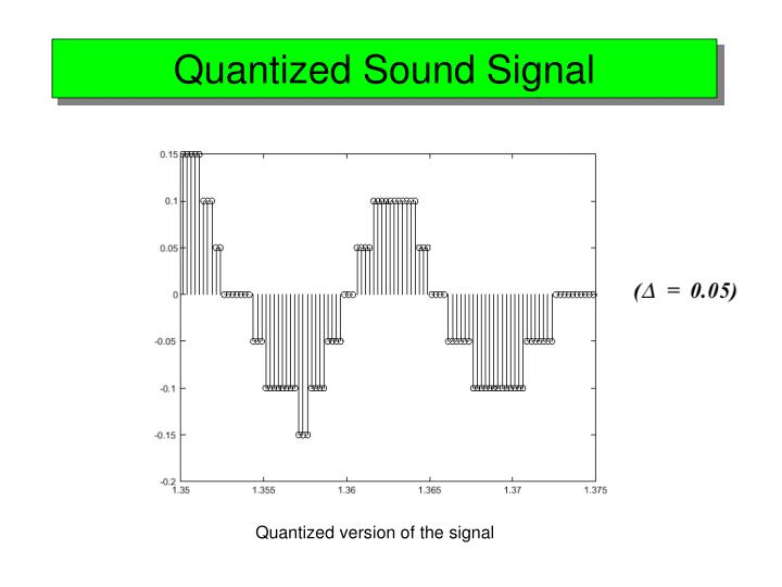 Quantized Sound Signal