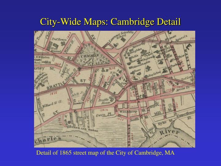 City-Wide Maps: Cambridge Detail