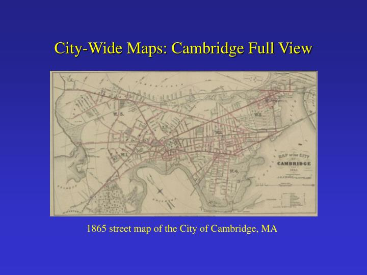 City-Wide Maps: Cambridge Full View