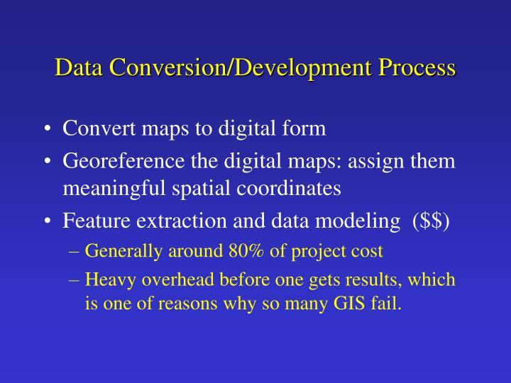 Data Conversion/Development Process
