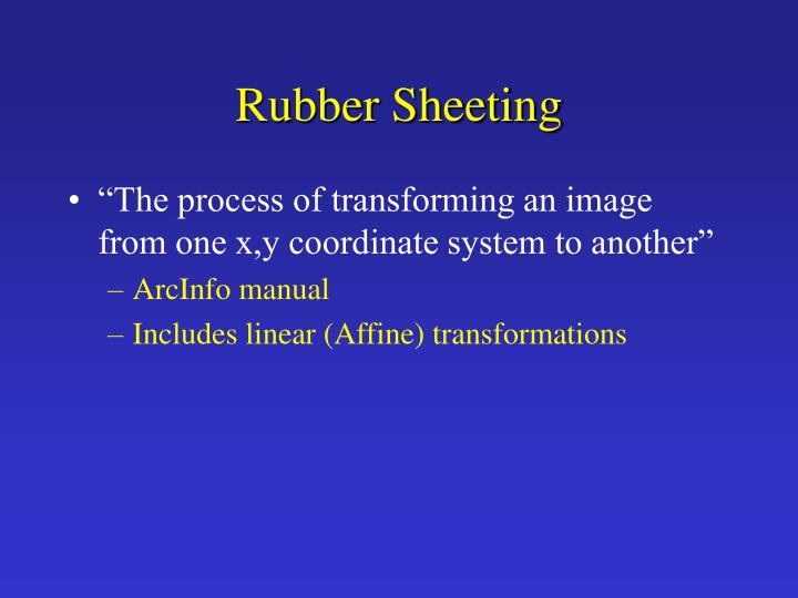 Rubber Sheeting