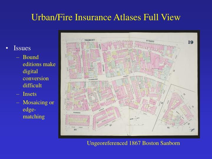 Urban/Fire Insurance Atlases Full View