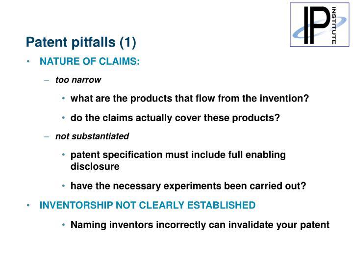 Patent pitfalls (1)