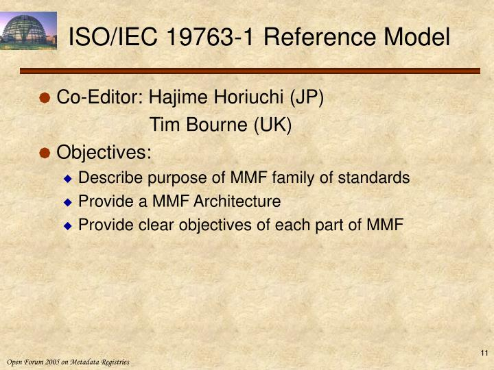 ISO/IEC 19763-1 Reference Model