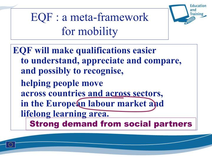 EQF will make qualifications easier