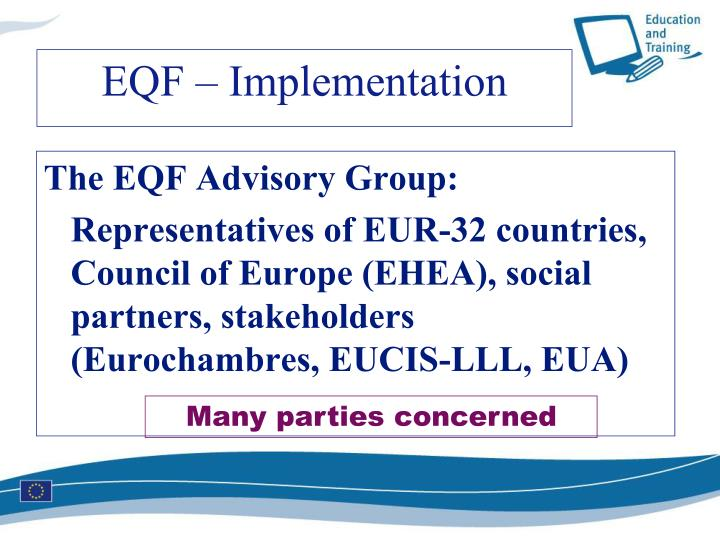 The EQF Advisory Group: