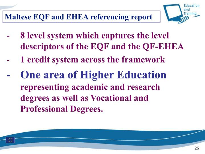 Maltese EQF and EHEA referencing report