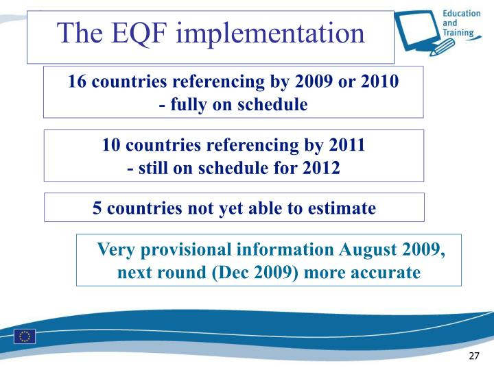 The EQF implementation
