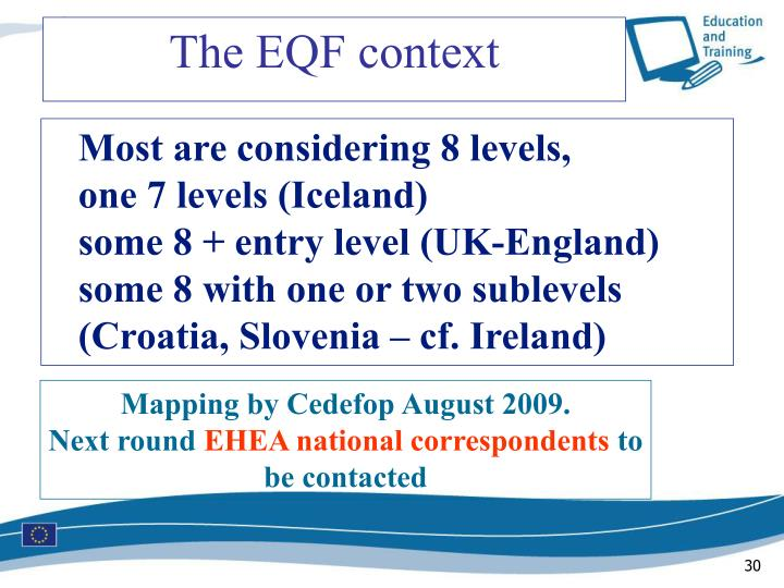 The EQF context