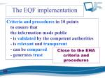 the eqf implementation2