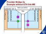 provider bridge 2a example without eth link me