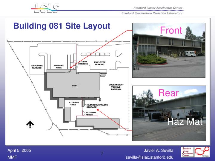 Building 081 Site Layout