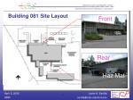 building 081 site layout