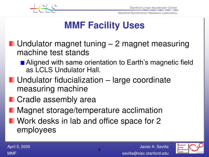 MMF Facility Uses