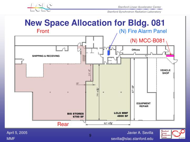 New Space Allocation for Bldg. 081
